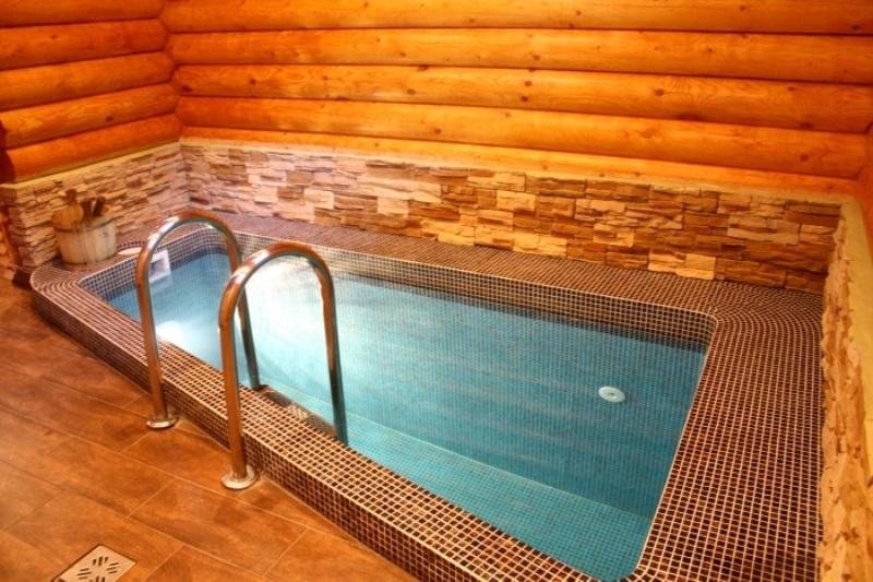 Баня сауна с бассейном своими руками