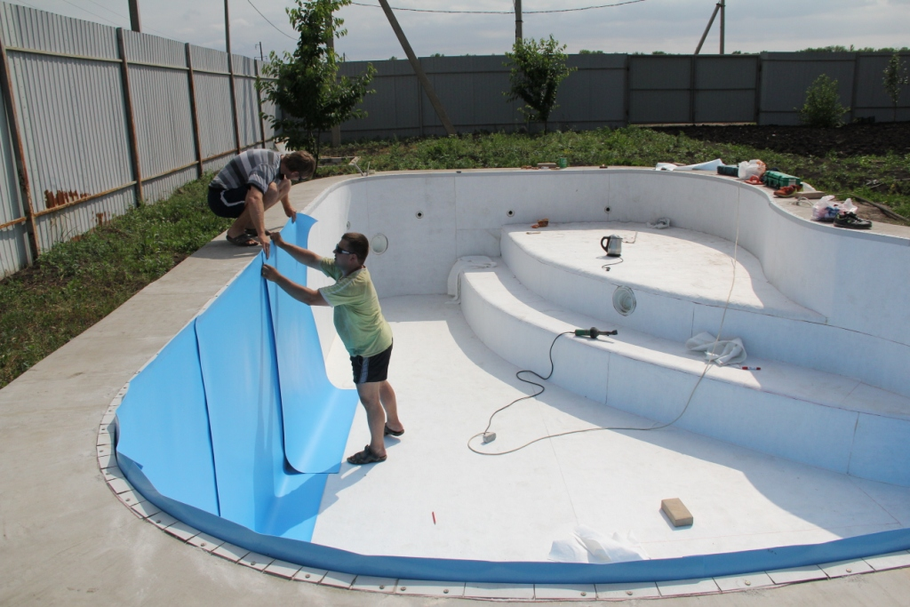 Отделка бассейна своими руками фото