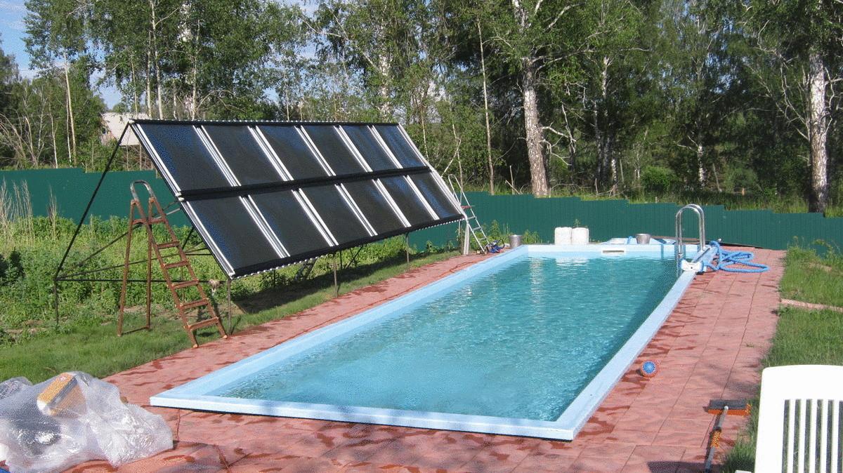 Солнечный коллектор воды для бассейна своими руками 4