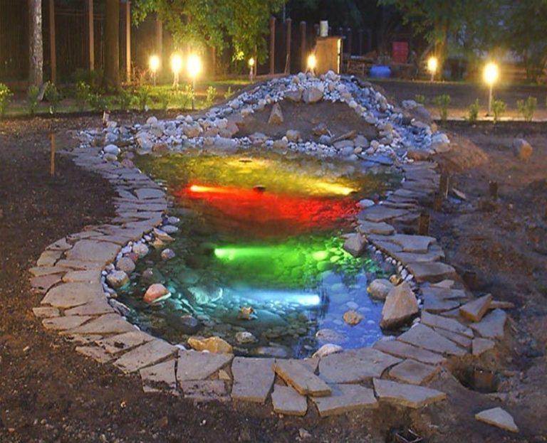 Ручей с фонтаном своими руками 25