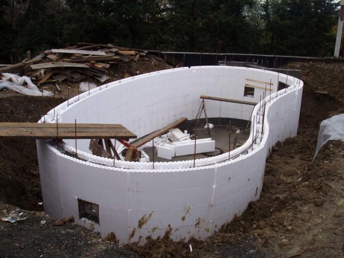 Строительство бассейна на дачном участке своими руками, фото
