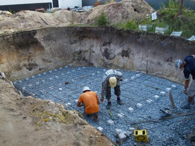 Как правильно залить бассейн бетоном, бетонирование бассейна Бассейн из бетона, бетонный бассейн своими руками