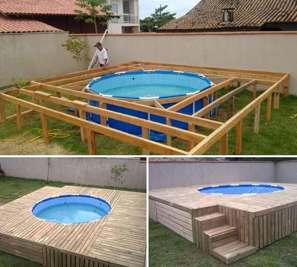 бассейн на даче своими руками