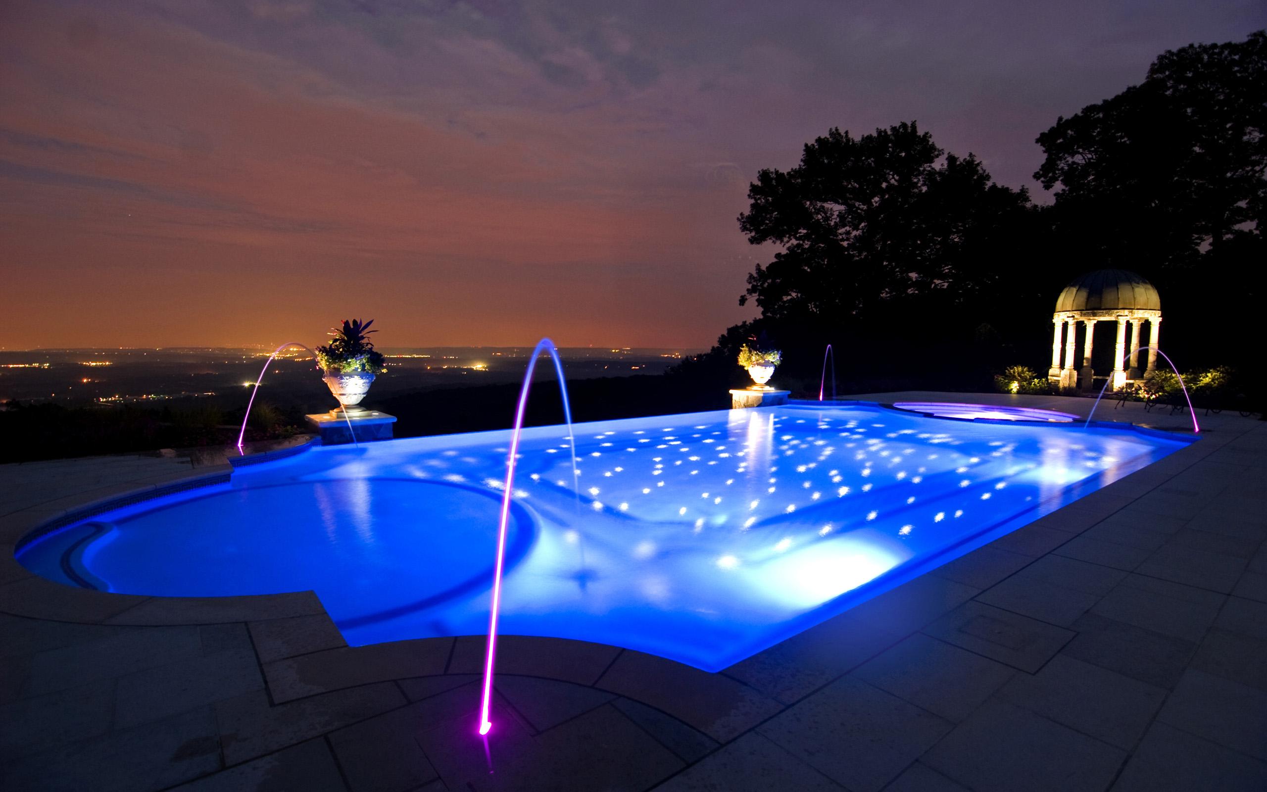 Как сделать подсветку в бассейне своими руками фото 809