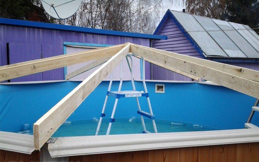 Укрытие для бассейна на даче: разновидности, материалы и способы